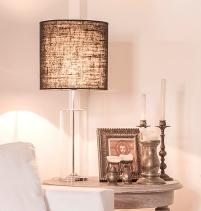 lampara de mesa vidrio